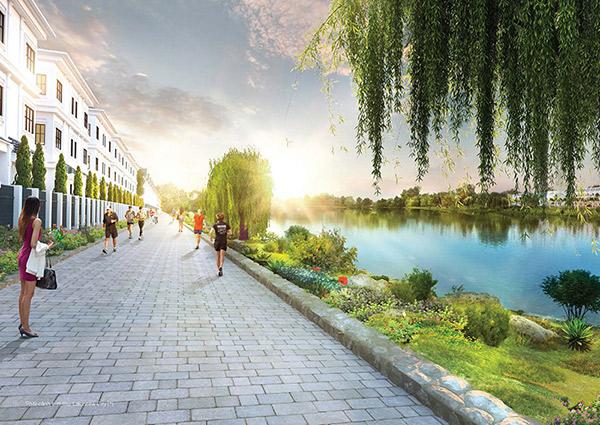Dự án còn sở hữu diện tích cây xanh và mặt nước hơn 20ha với 02 hồ cảnh quan lớn nhất khu vực