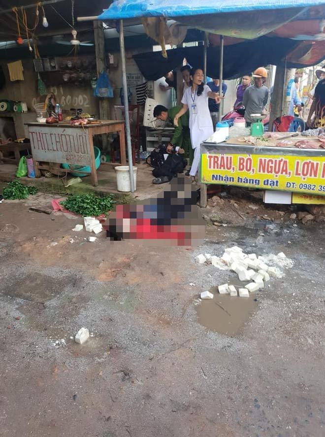 Kinh hoàng, cô gái bán đậu bị bắn 3 phát, đâm chết giữa chợ - 1