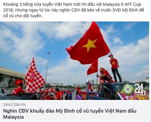 AFF Cup: Fan Việt nhuộm đỏ Facebook trước trận Việt Nam - Malaysia - 4