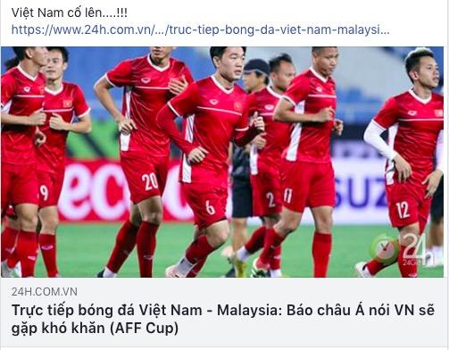 AFF Cup: Fan Việt nhuộm đỏ Facebook trước trận Việt Nam - Malaysia - 7
