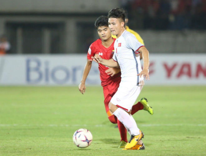 ĐT Việt Nam - Myanmar 0-0: Quang Hải hay Công Phượng đá tốt nhất? - 1