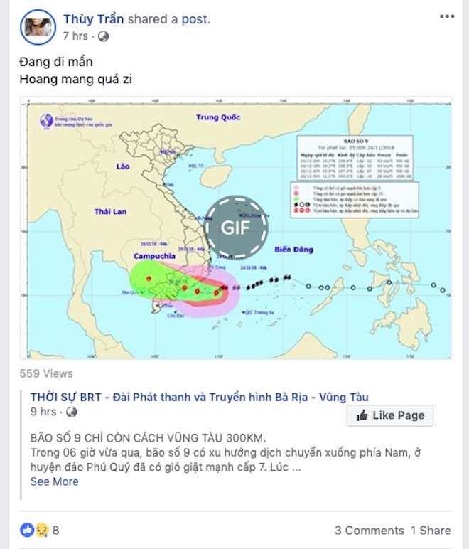 Dân mạng lo lắng trước cơn bão số 9 sắp đổ bộ Nam Bình Thuận tới Bến Tre - 8
