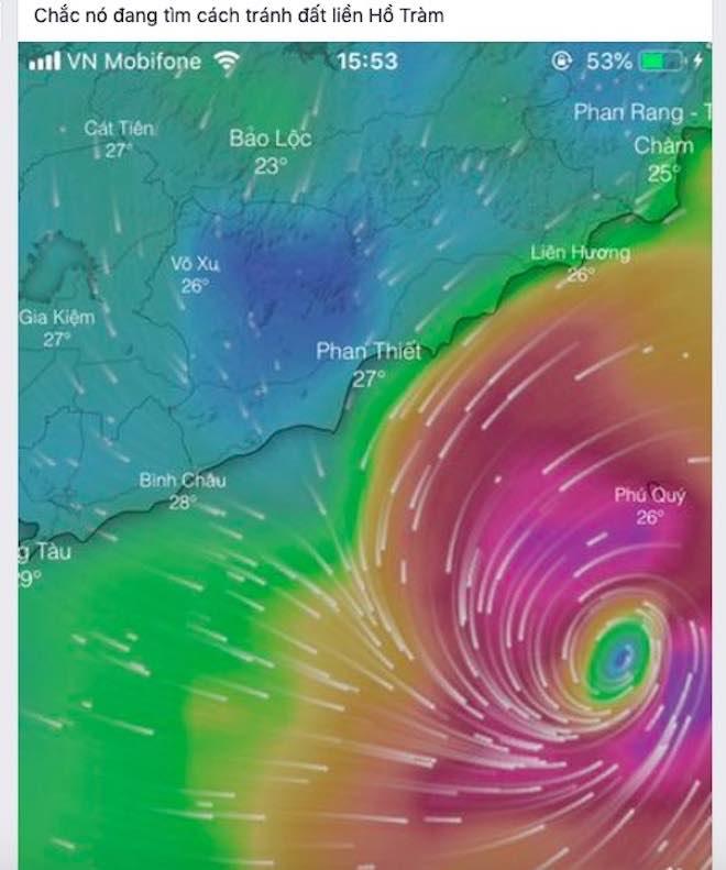 Dân mạng lo lắng trước cơn bão số 9 sắp đổ bộ Nam Bình Thuận tới Bến Tre - 1