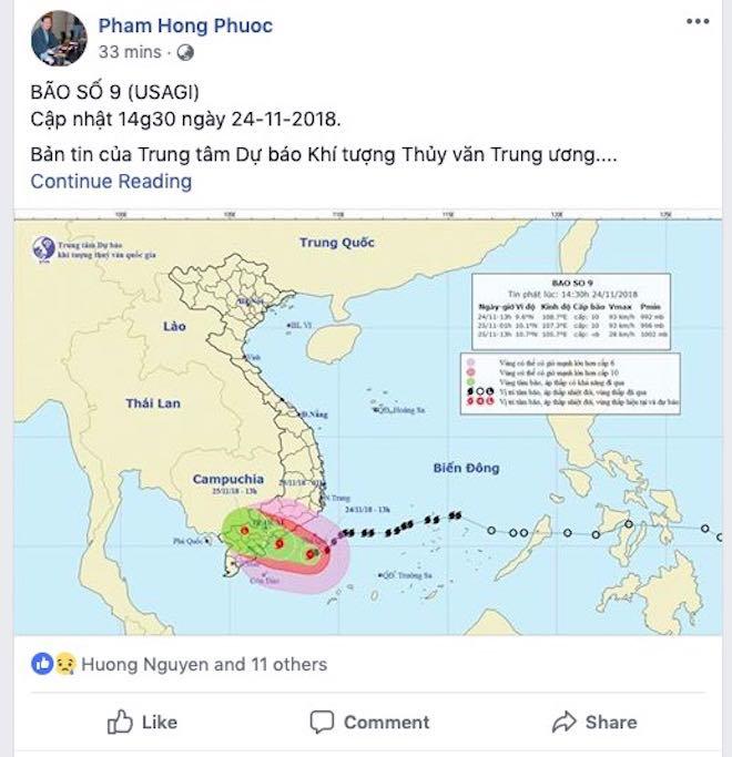 Dân mạng lo lắng trước cơn bão số 9 sắp đổ bộ Nam Bình Thuận tới Bến Tre - 9