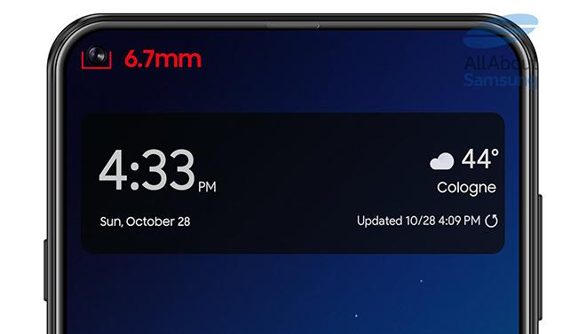 """Galaxy A8s lộ màn hình có """"nốt ruồi"""", 4 camera - 2"""