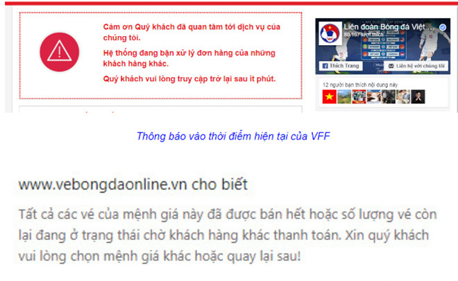 Mở bán online, mua vé xem trận Việt Nam – Philippines rất khó khăn - 1
