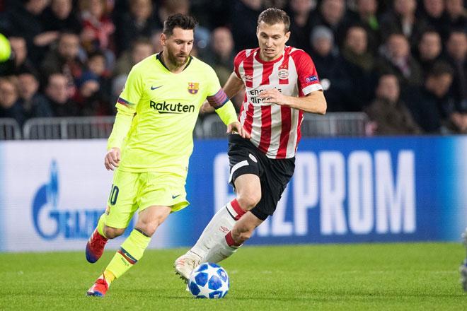 PSV - Barcelona: Nguy hiểm rình rập, thiên tài Messi ra tay - 1