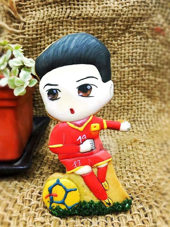 Cặp bánh quy hình HLV Park Hang-seo, Quang Hải và lời chúc ĐT Việt Nam vô địch AFF Cup 2018 - 4