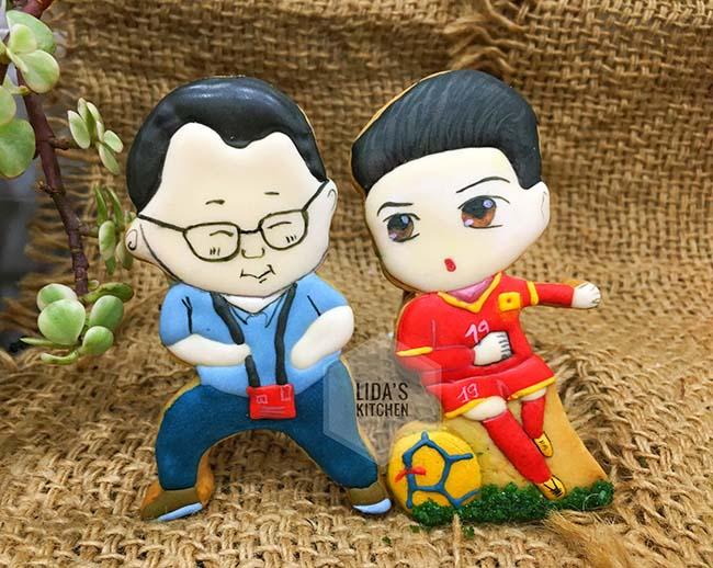 Cặp bánh quy hình HLV Park Hang-seo, Quang Hải và lời chúc ĐT Việt Nam vô địch AFF Cup 2018 - 5