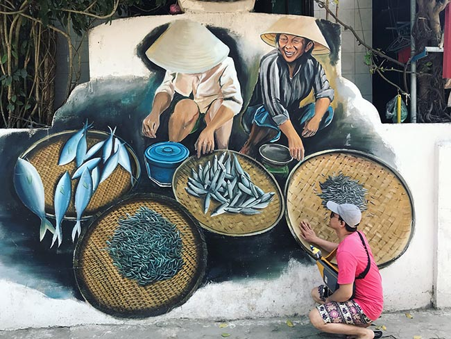 """""""Check- in"""" ngôi làng bích họa đẹp mộng mơ ở Quảng Bình - 5"""