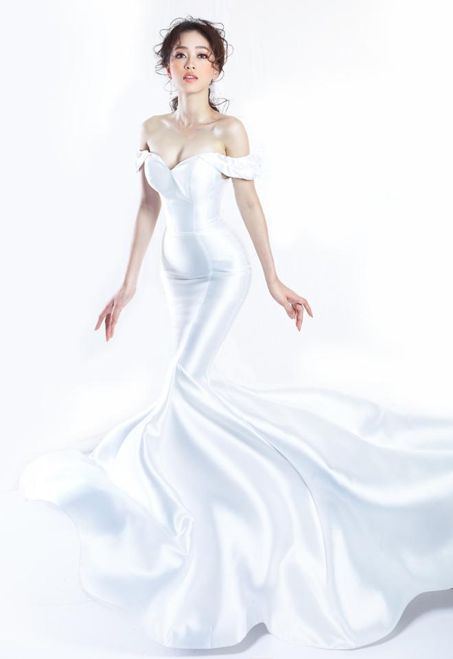 Á hậu Phương Nga lần đầu mặc váy cưới - 1