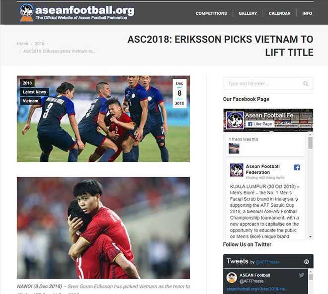 """""""Siêu"""" HLV Eriksson khen Việt Nam quá mạnh, sẽ vô địch AFF Cup - 2"""