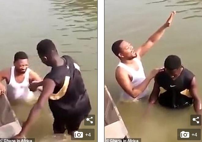 Video: Xuống nước rửa tội cùng mục sư, chìm nghỉm mãi không thấy lên - Tin tức 24h