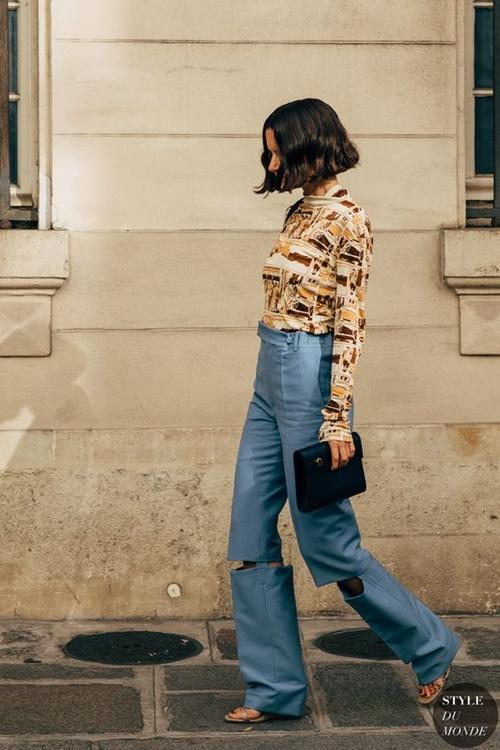 Quên kiểu quần jeans bó giò đi, đây mới là mốt jeans thống trị 2019 - 4