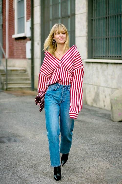 Quên kiểu quần jeans bó giò đi, đây mới là mốt jeans thống trị 2019 - 13