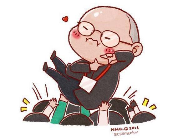 """Ảnh chế siêu """"cute"""" của HLV Park Hang Seo vẫn lan truyền """"chóng mặt"""" trên MXH - 5"""