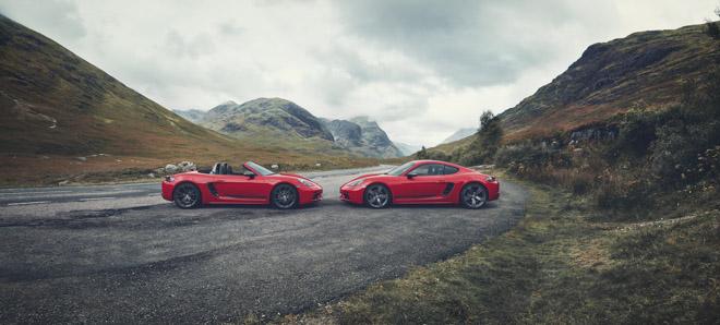 Porsche giới thiệu phiên bản thể thao giá rẻ 718T Cayman và 718T Boxster - 1