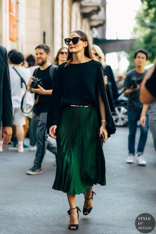Chân váy xếp ly mốt trở lại, nhưng có chắc bạn đã biết cách mặc - 1