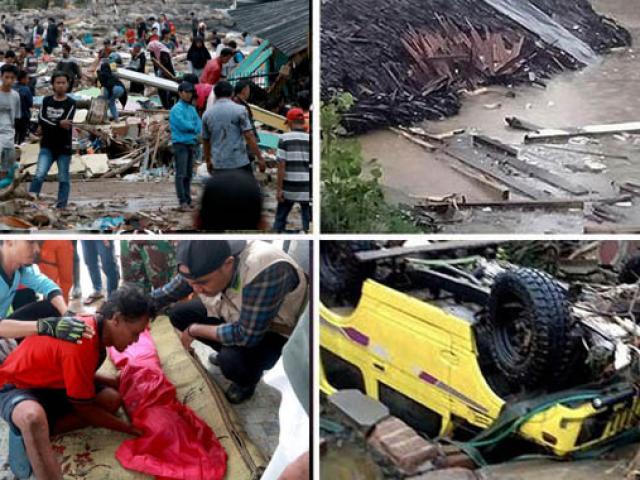 Thế giới - Ảnh sốc lạnh người về thảm họa sóng thần chết chóc ở Indonesia
