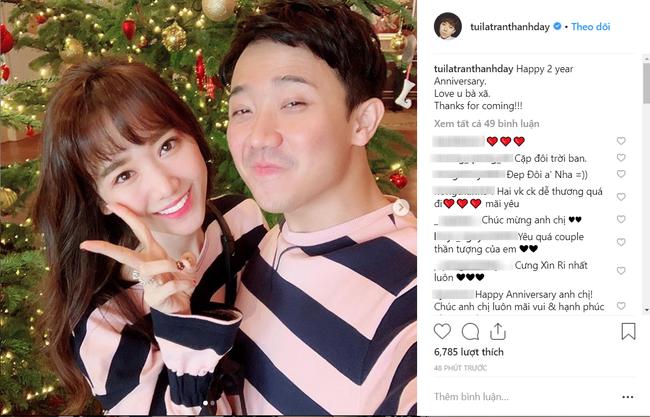 """Nhắn vợ Hari Won nhân 2 năm ngày cưới, Trấn Thành bị """"bóc mẽ"""" điều này - 1"""