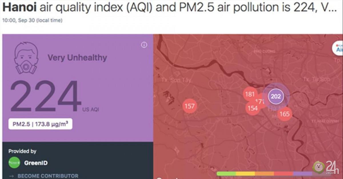 SOS chất lượng không khí nguy hại, Sở Tài nguyên nói chỉ để tham khảo? - Tin tức 24h