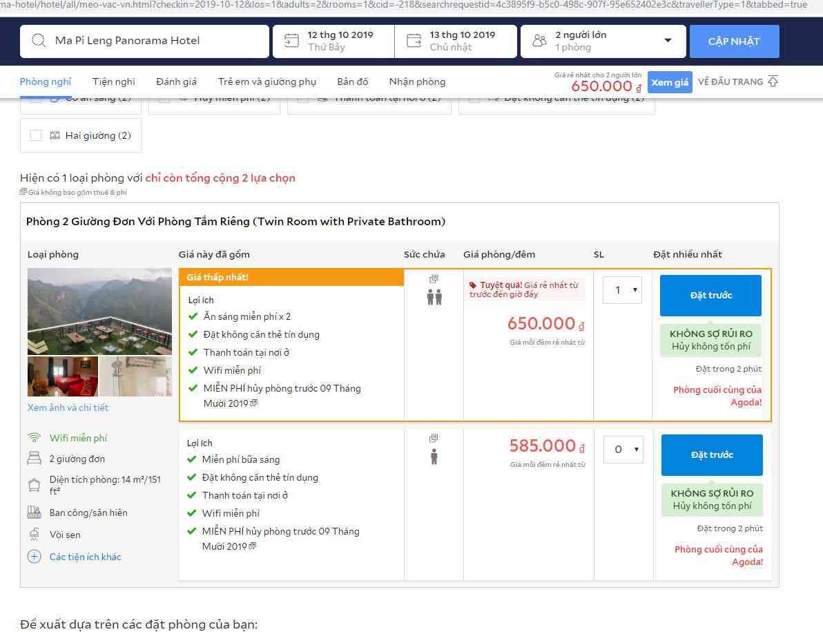 Dân mạng tẩy chay, điểm đánh giá của khách sạn Panorama Mã Pì Lèng thê thảm - 2