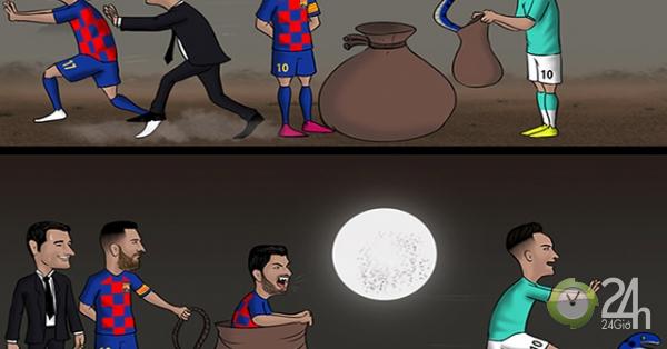 Ảnh chế Suarez cứu rỗi Barca HOT nhất vòng 2 cúp C1