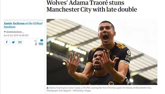 """Man City thua sốc, kém Liverpool 8 điểm: Báo Anh viết gì về """"địa chấn""""? - 2"""