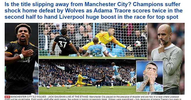 """Man City thua sốc, kém Liverpool 8 điểm: Báo Anh viết gì về """"địa chấn""""? - 1"""