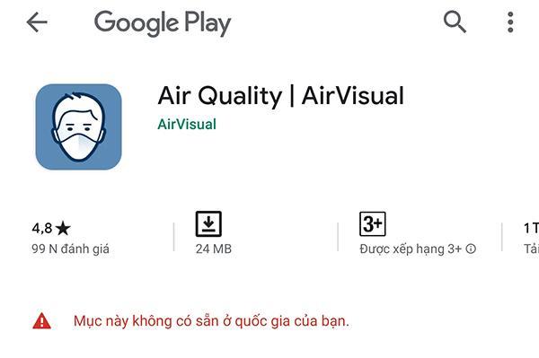 Ứng dụng AirVisual biến mất khỏi kho phần mềm của iOS lẫn Android - 3
