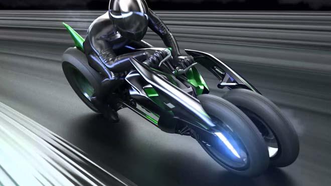 Siêu mô tô điện 3 bánh Kawasaki J sắp trình làng - 3
