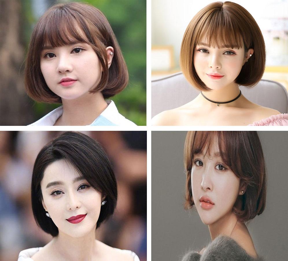 Kiểu tóc ngắn cho mặt tròn to đẹp giúp che khuyết điểm hoàn hảo - 1