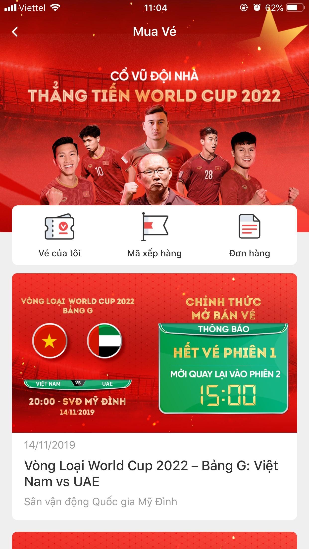 """Nóng 24h qua: """"Cháy vé"""" trận Việt Nam-UAE sau… 2 phút mở bán"""