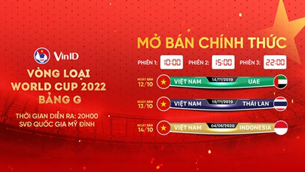 Nhanh tay săn vé 3 trận tiếp theo của tuyển Việt Nam trên VinID - 1