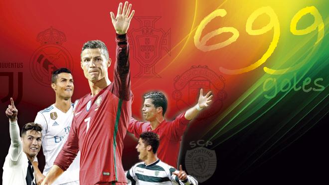 """Ronaldo tỏa sáng áp sát cột mốc 700 bàn, cho Messi """"hít khói"""" kỷ lục - 2"""