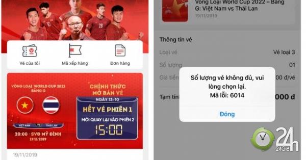 CĐV tiếc nuối vì hụt vé trận ĐT Việt Nam đấu Thái Lan ở vòng loại World Cup - Tin tức 24h