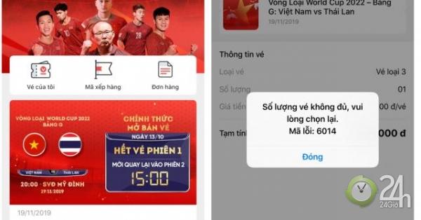"""Vé trận ĐT Việt Nam gặp Thái Lan hết trong """"nháy mắt"""" - Tin tức 24h"""