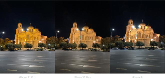 So sánh camera iPhone 11 Pro và iPhone Xs Max, iPhone 8 - 7