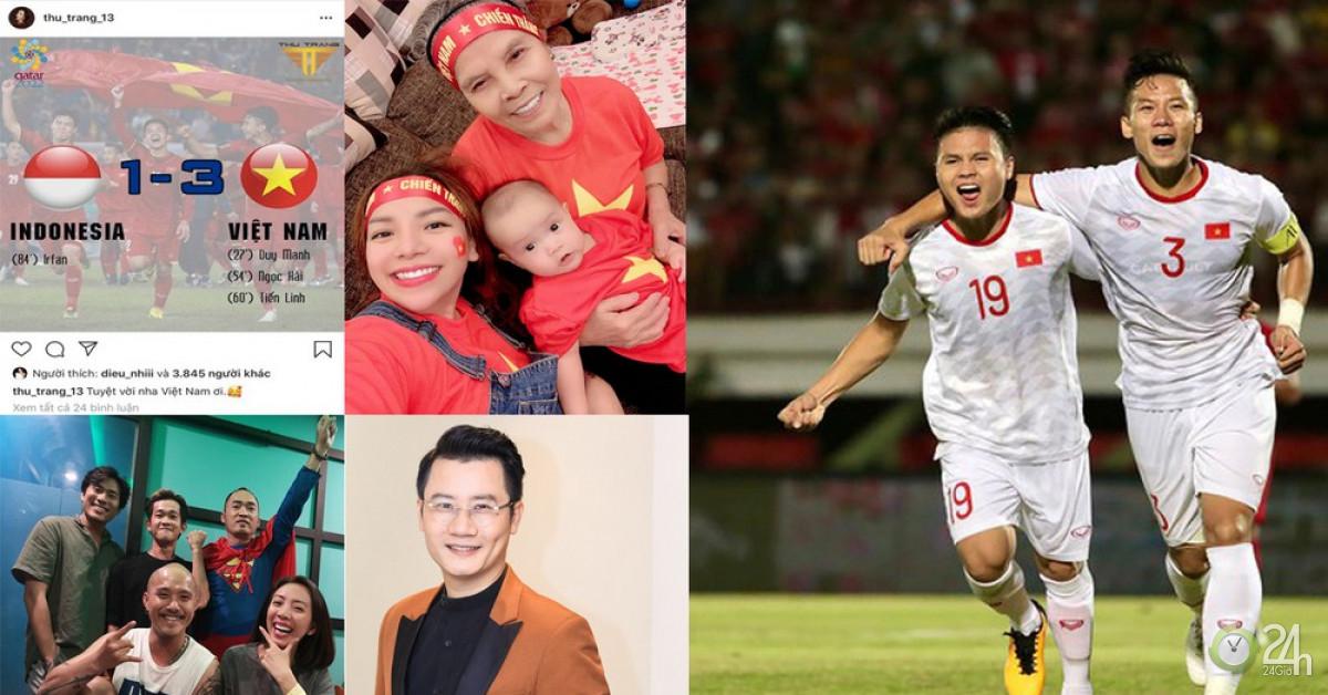 Nhiều sao Việt được phong 'thánh dự đoán tỉ số' khi Việt Nam thắng Indonesia - Ngôi sao