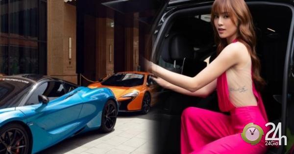 """Ninh Dương Lan Ngọc gây """"náo loạn"""" khi xuất hiện bên dàn siêu xe hơn 200 tỷ đồng - Ngôi sao"""