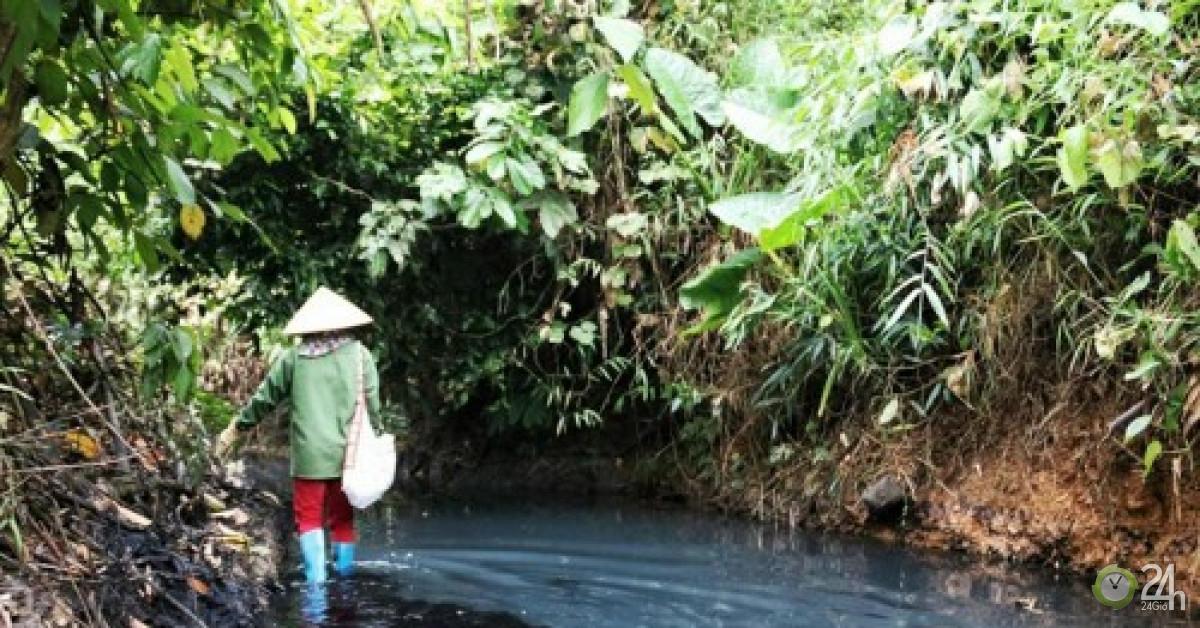 Khó hiểu đường đi của xe ôtô đổ dầu xuống nguồn nước sông Đà - Tin tức 24h