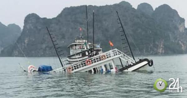 Va chạm với tàu chở đá, tàu du lịch chìm trên vịnh Hạ Long - Tin tức 24h