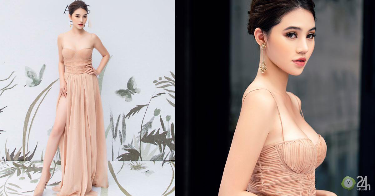 """""""Váy như sắp đứt dây"""" vì vòng 1 nặng trĩu của Jolie Nguyễn - Ngôi sao"""