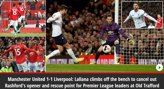 """Liverpool thoát thua trước MU: Báo chí tiếc cho """"Quỷ đỏ"""", ca ngợi Rashford - 2"""