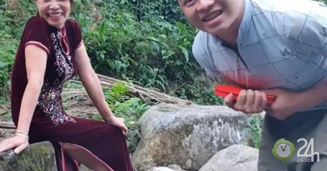 Cô dâu 62 tuổi khoe quà bất ngờ chồng tặng bên bờ suối, dân mạng phản ứng ngược
