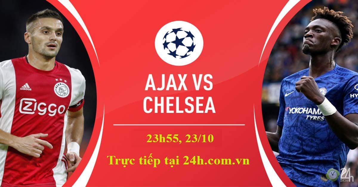 Trực tiếp bóng đá Cúp C1, Ajax - Chelsea: The Blues quyết đại náo Hà Lan