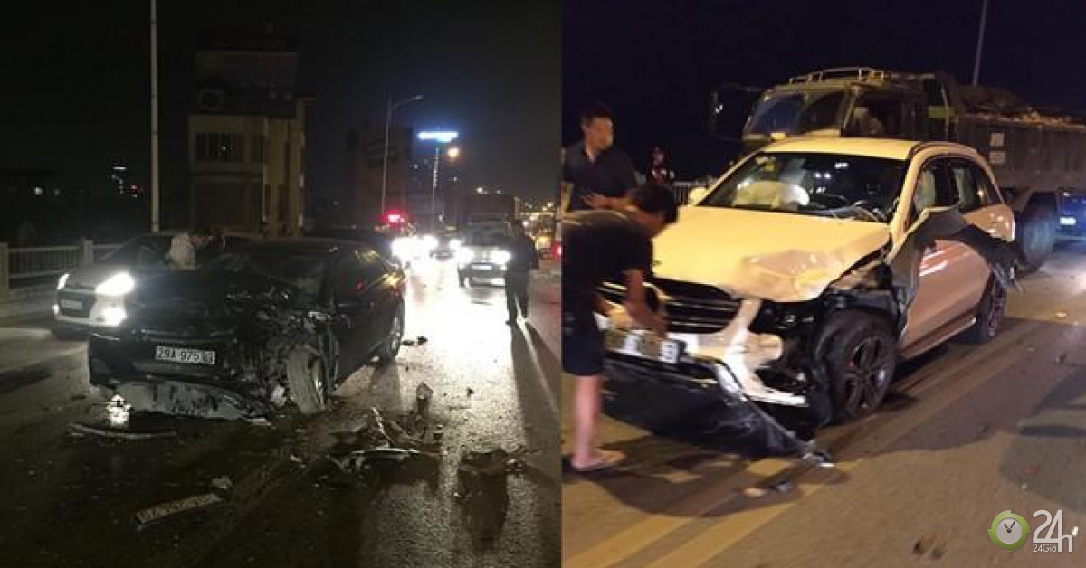 Hà Nội: 3 xe tông nhau liên hoàn trên cầu Vĩnh Tuy lúc nửa đêm - Tin tức 24h
