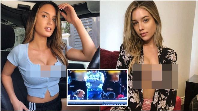 """2 người mẫu bị phạt vì khoe trọn """"vòng 1"""" trên khán đài tuyên bố bất cần"""