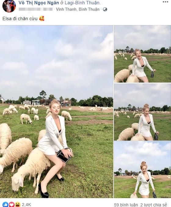 Ngân 98 uốn éo phản cảm trên lưng cừu bị dân mạng mỉa mai, chỉ trích - 1