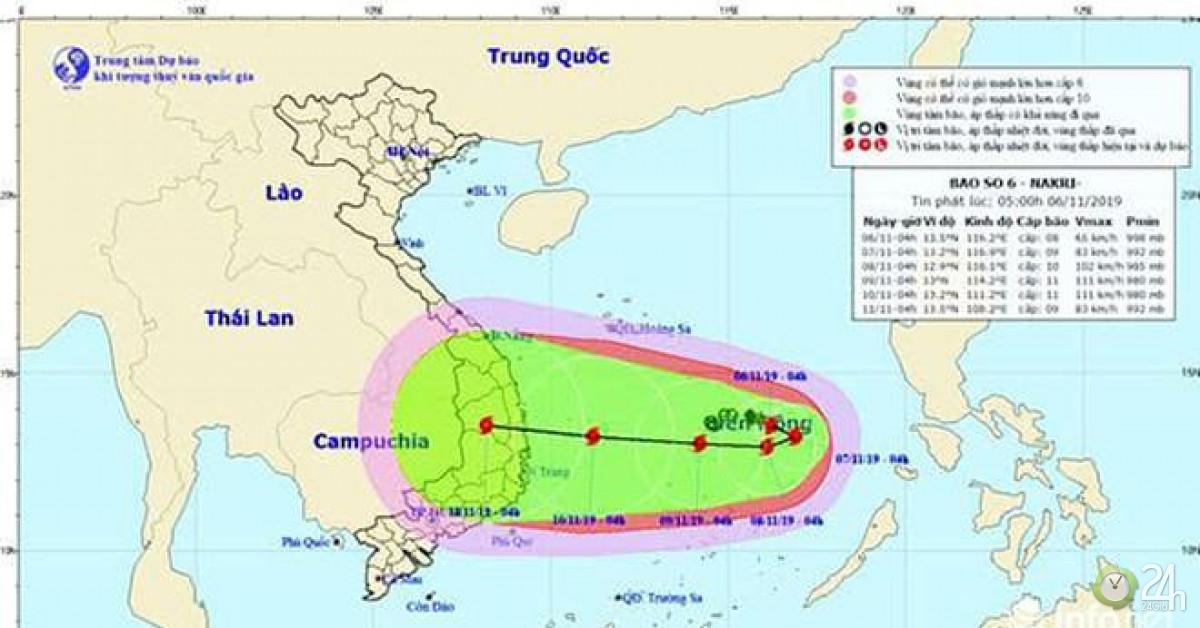Bão NAKRI (bão số 6) có đường đi rất dị thường và vô cùng nguy hiểm! - Tin tức 24h